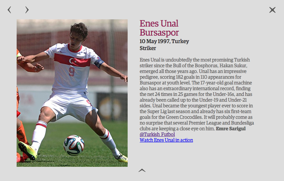 Next Generation 2014: 40 of the best young talents in world football - Enes Ünal