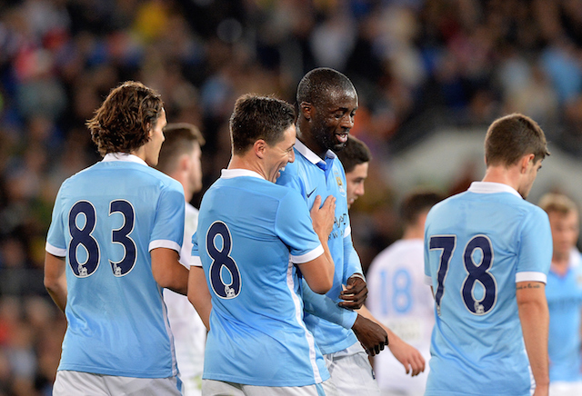 Wilfried Bony Man City wonderkid Samir Nasri
