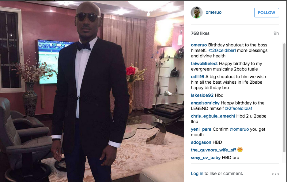 Chelsea defender wishes Nigerian music artist 2face Idibia
