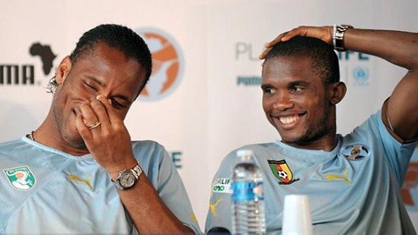Samuel Eto'o Didier Drogba