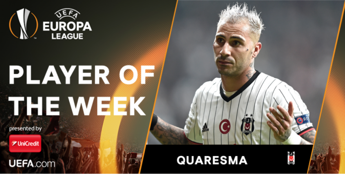 Quaresma UEFA Manchester United Europa League Besiktas