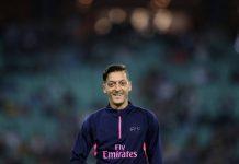 Mesut Ozil smiling